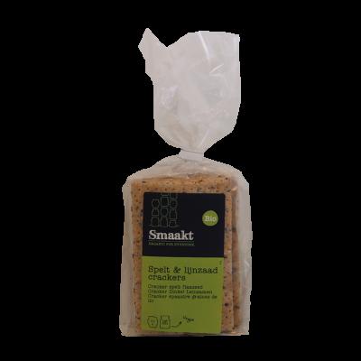 Crackers Spelt & lijnzaad Vegan (200 gram)