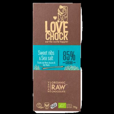 Lovechock Sweet Nibs & Sea Salt 85%