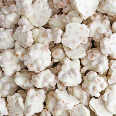 Witte cookie caramel rotsjes