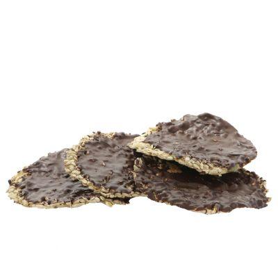 Healthy crispy crackers met chocolade
