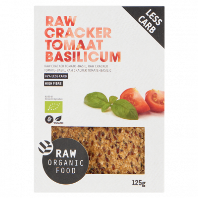 Cracker Tomaat & Basilicum Raw Bio