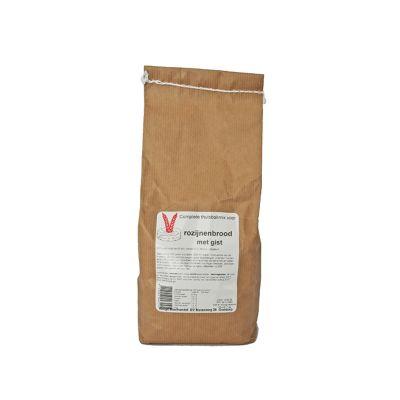 Rozijnenbrood met gist (1000 gram)