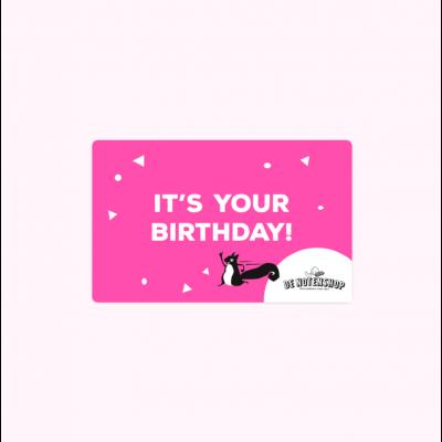 Cadeaubon verjaardag