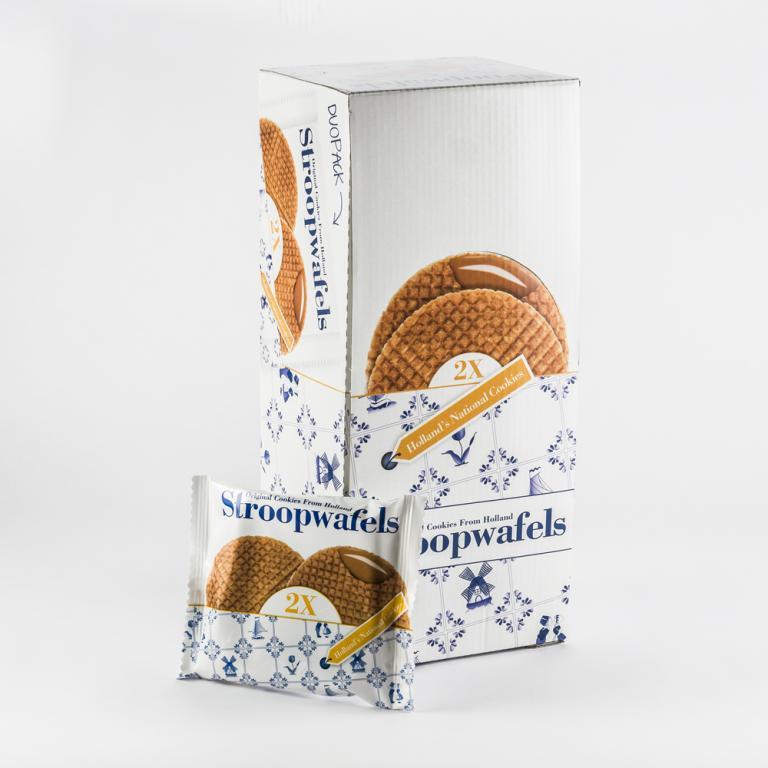 Stroopwafels duo packed (15x80 gram)
