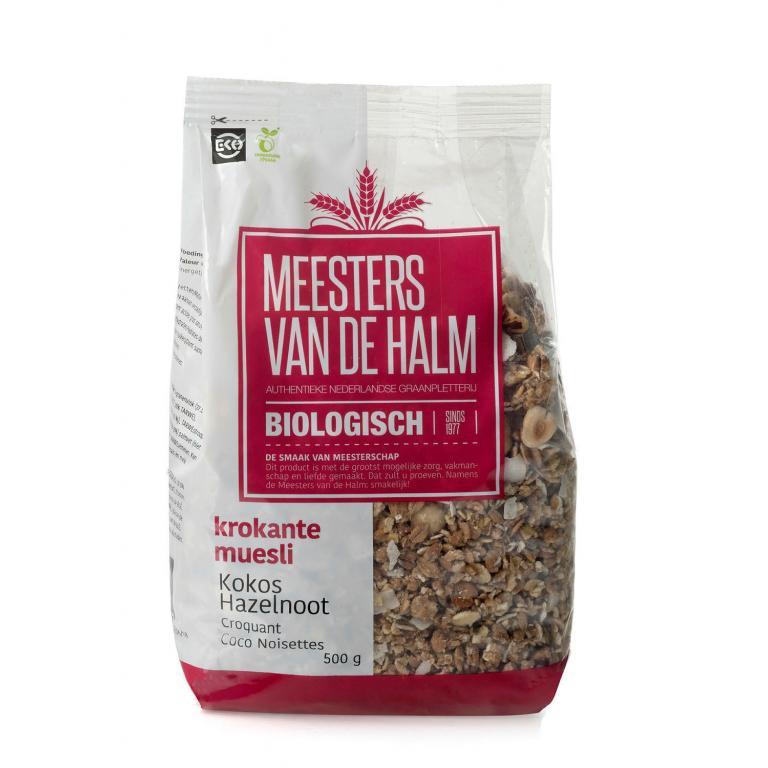 De Halm Krokante Muesli Kokos (500 gram)