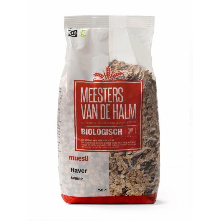 De Halm Havermuesli (750 gram)