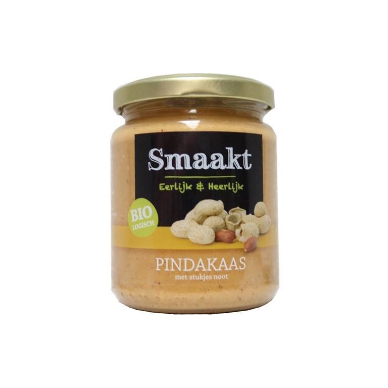 Pindakaas Crunchy Bio MZ (250 gram)