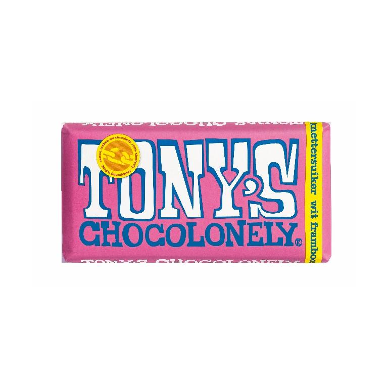 Tony's Chocolonely Wit Framboos Knettersuiker