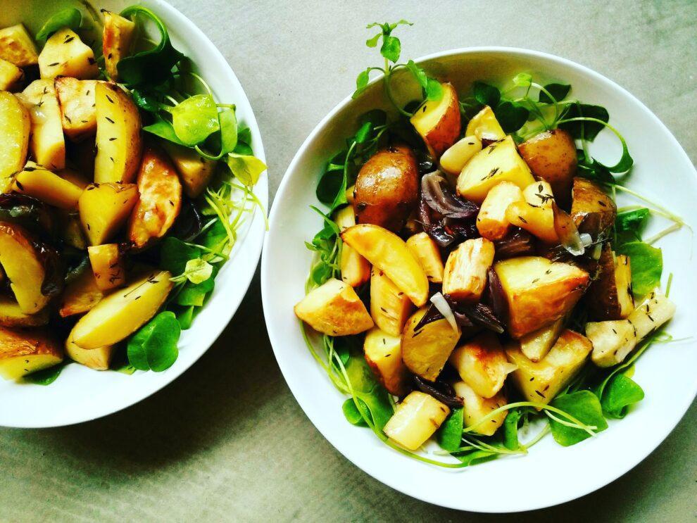 Aardappelsalade met pastinaak en tijm