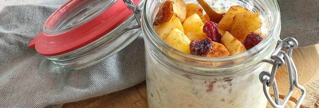 Overnight oats met appel & kaneel