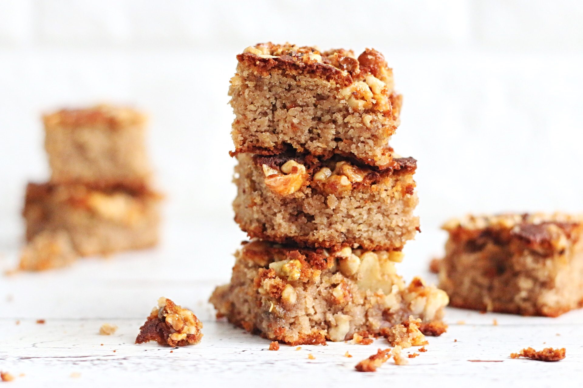 Crunchy plaatcake met noten