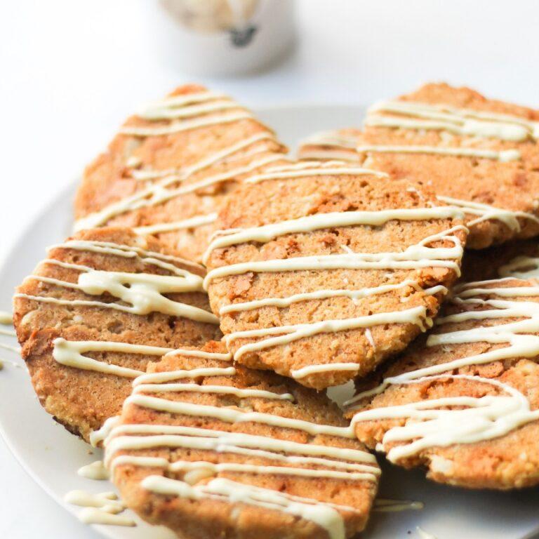 Macadamia koeken met witte chocolade