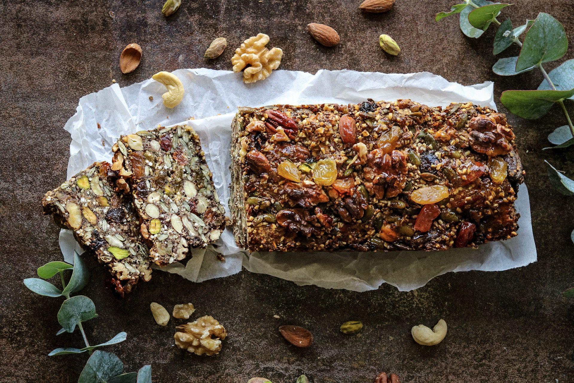 Notenbrood met zaden en pitten
