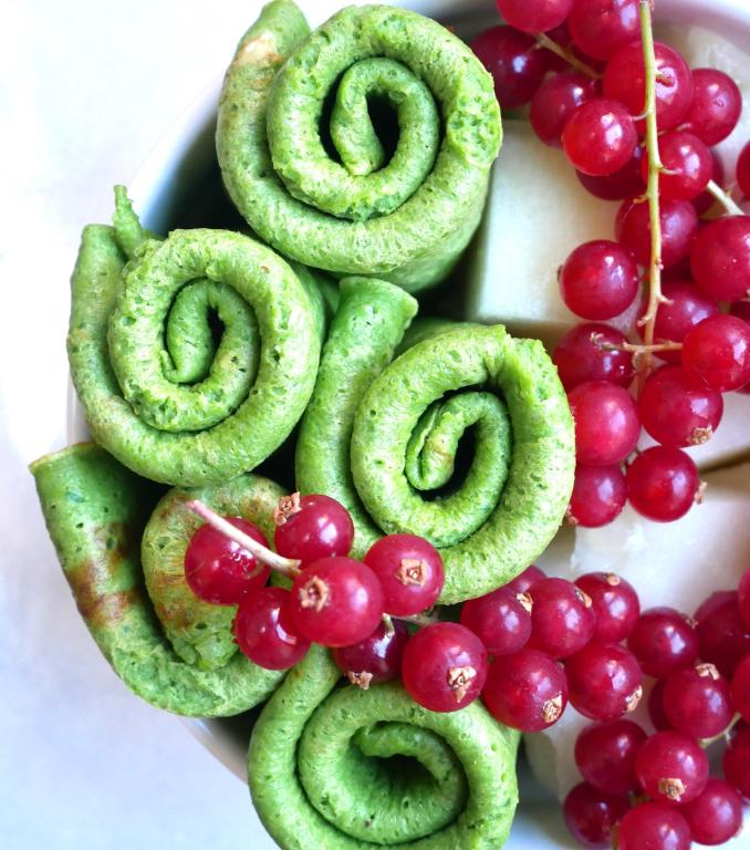 Groene snack-pannenkoekjes
