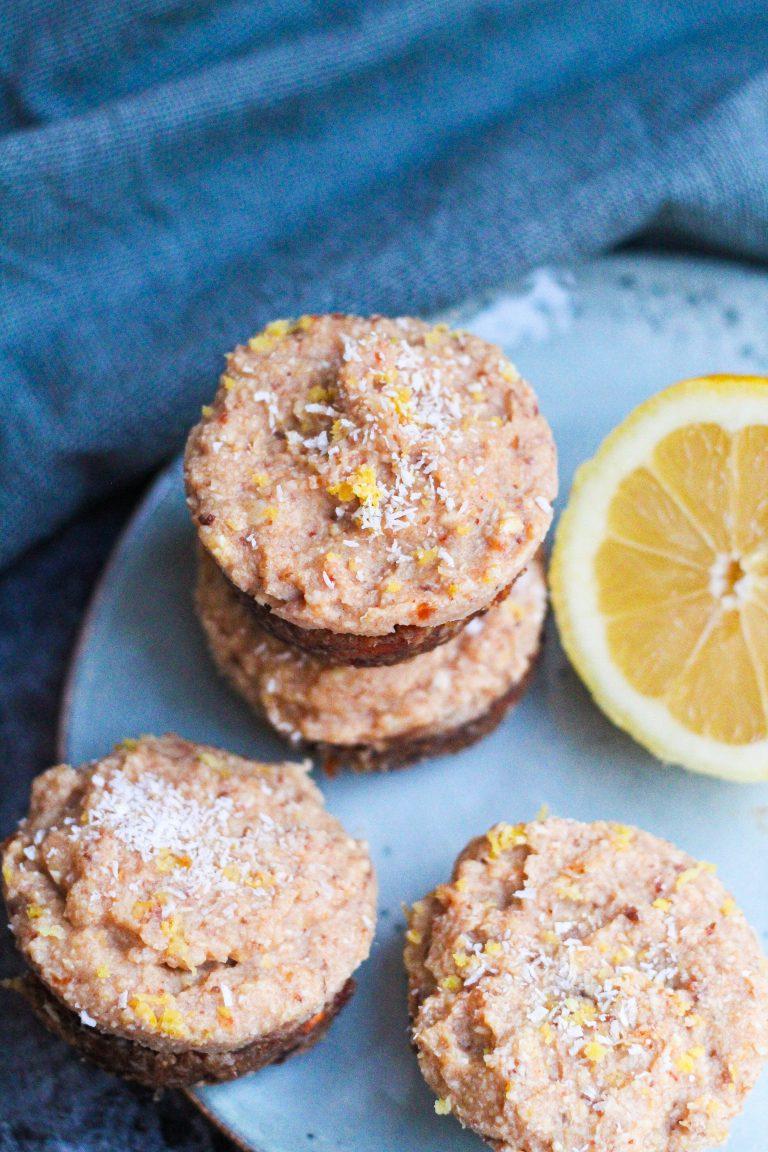 Vegan lemon cheesecake cups