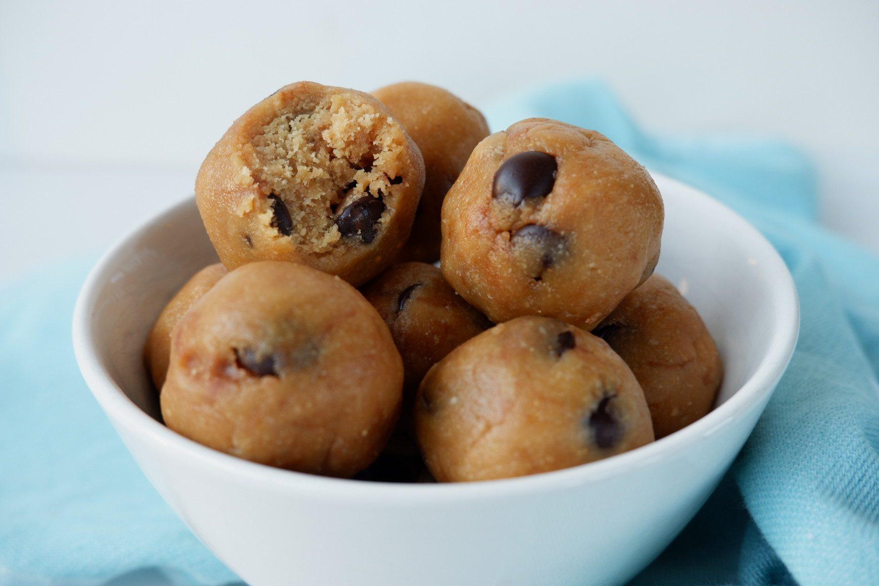 Vegan pindakaas cookie dough