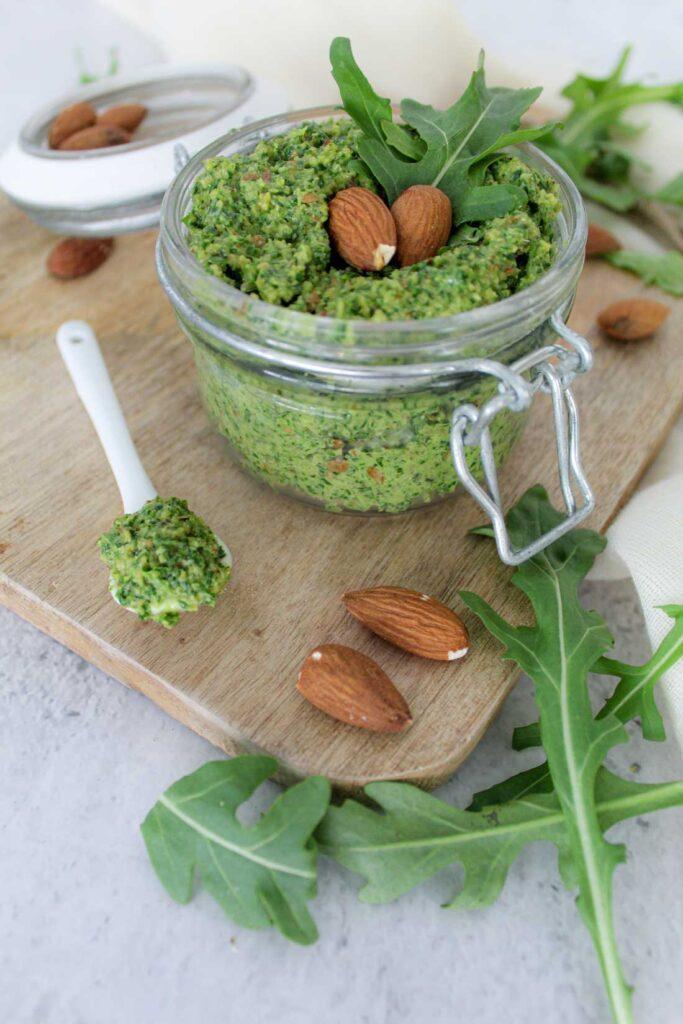 Amandel-rucola-spread-vegan