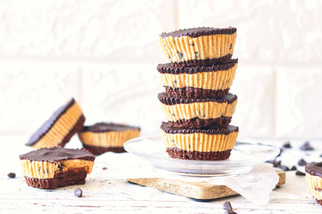 Brownie cookie dough cups