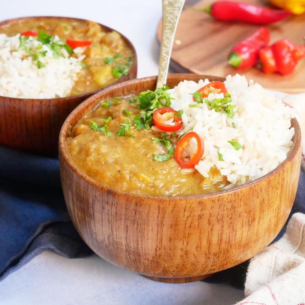 Vegetarische (milde) Massala curry met pompoen