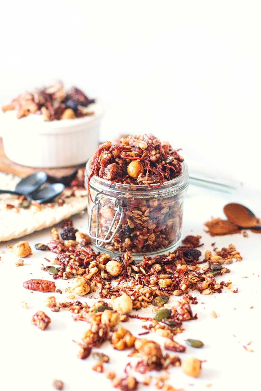 Worteltaart-granola