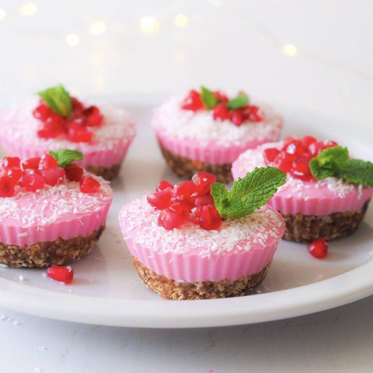 Roze no-bake cupcakes