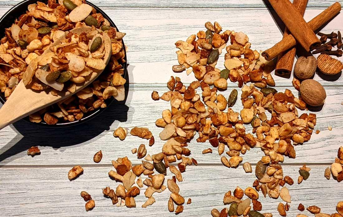 Winterse pan-granola