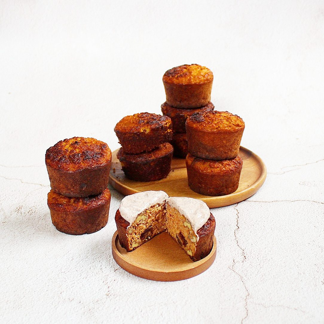Eiwitrijke carrotcake muffins