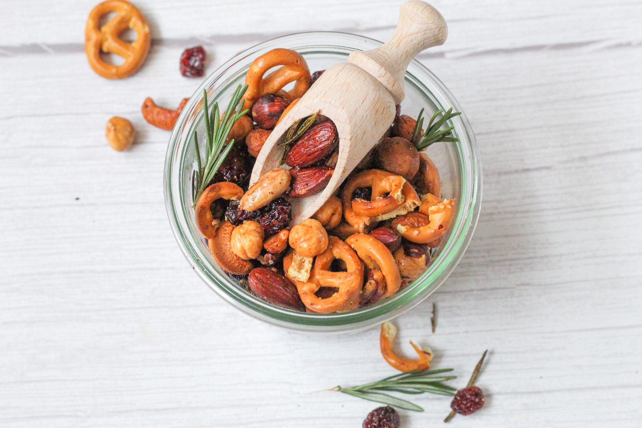 Geroosterde noten snack mix