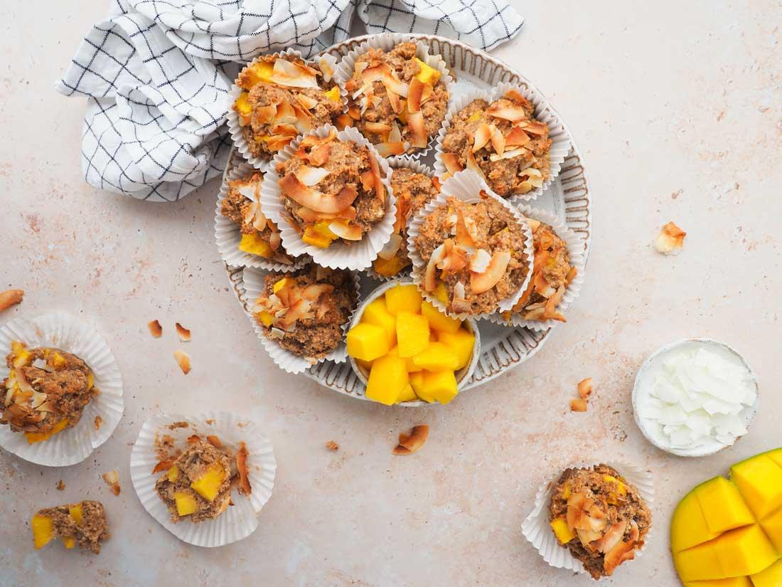 Mango kokos muffins
