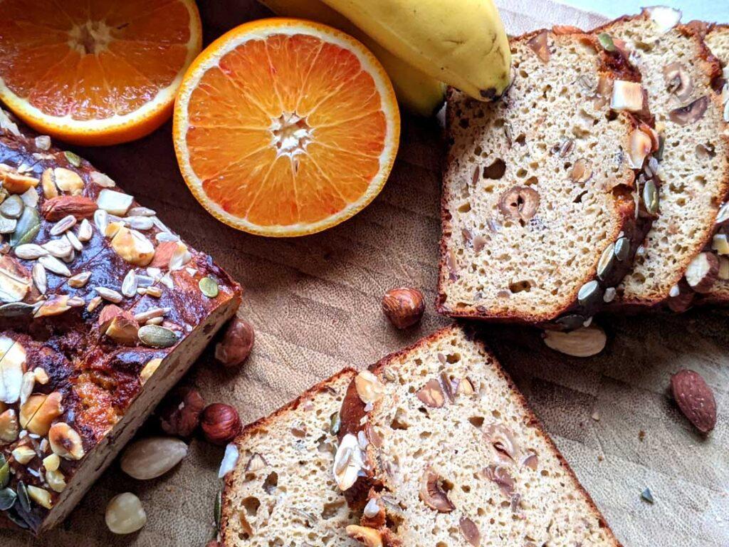 Noten-zaden bananenbrood