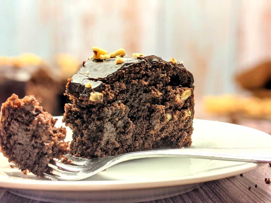 Smeuiige brownietaart
