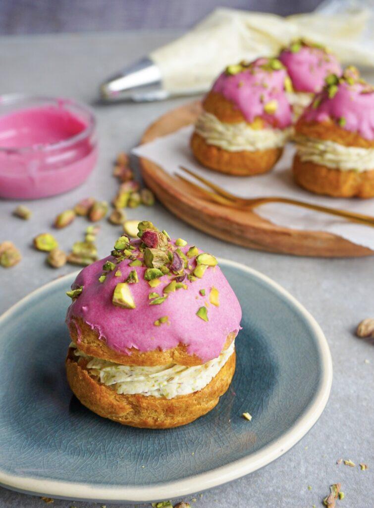 Glutenvrije soezen met vulling van pistachenoten mascarpone crème