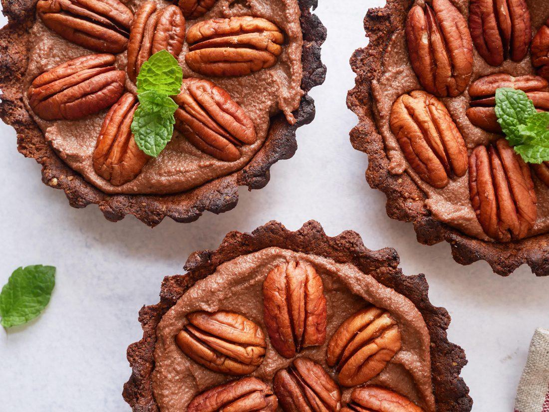 Gezonde choco tartelettes met pecannoten