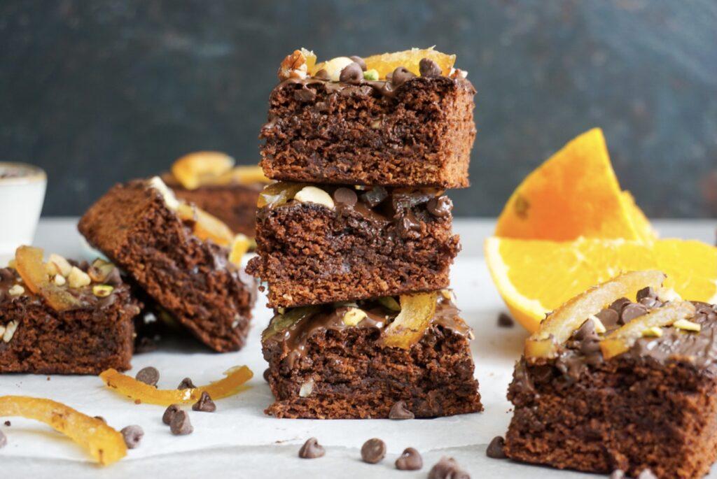 Glutenvrije brownies met sinaasappel