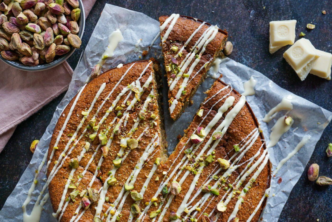 Glutenvrije pistachenoten taart