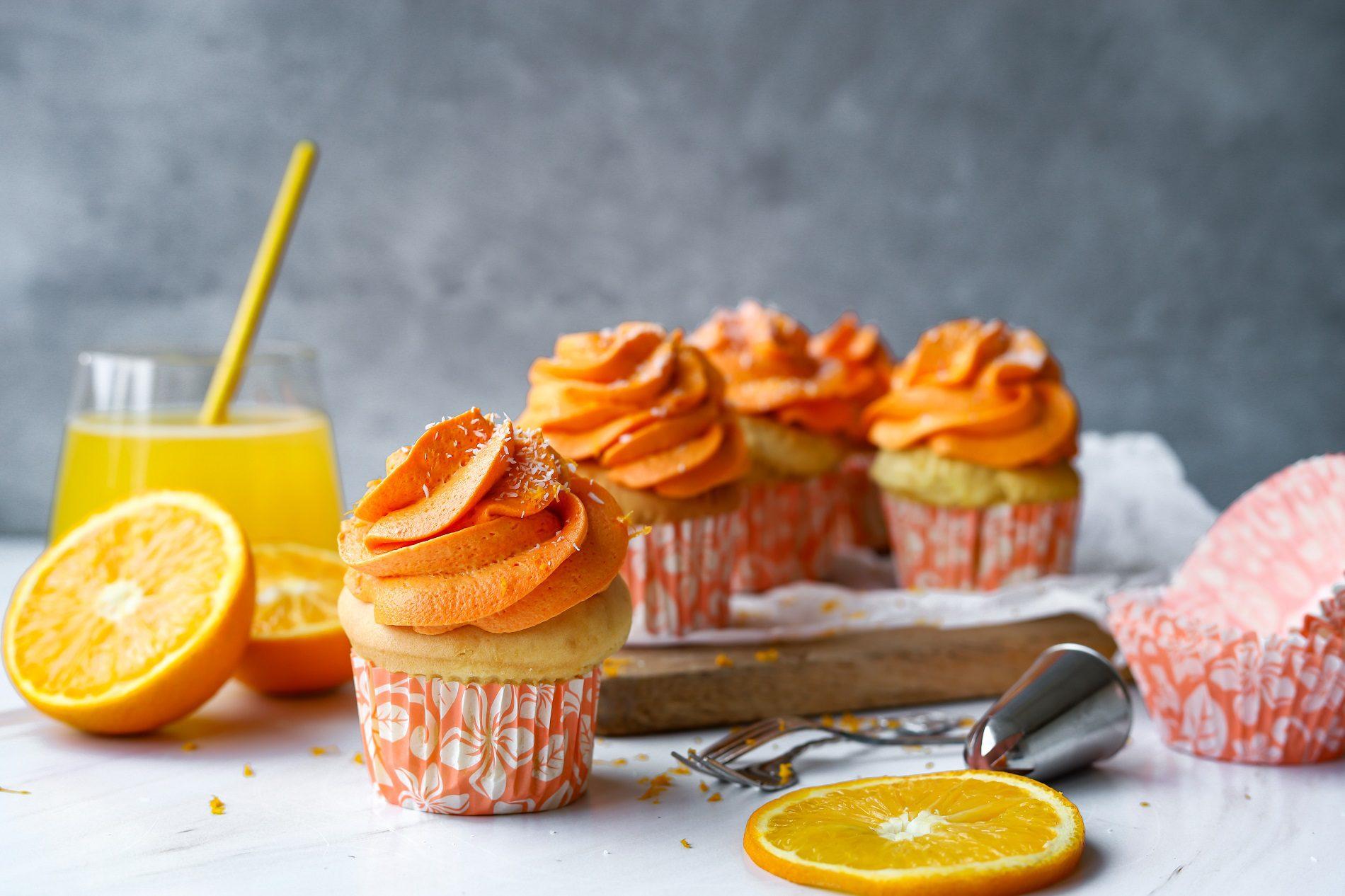 Oranje muffins
