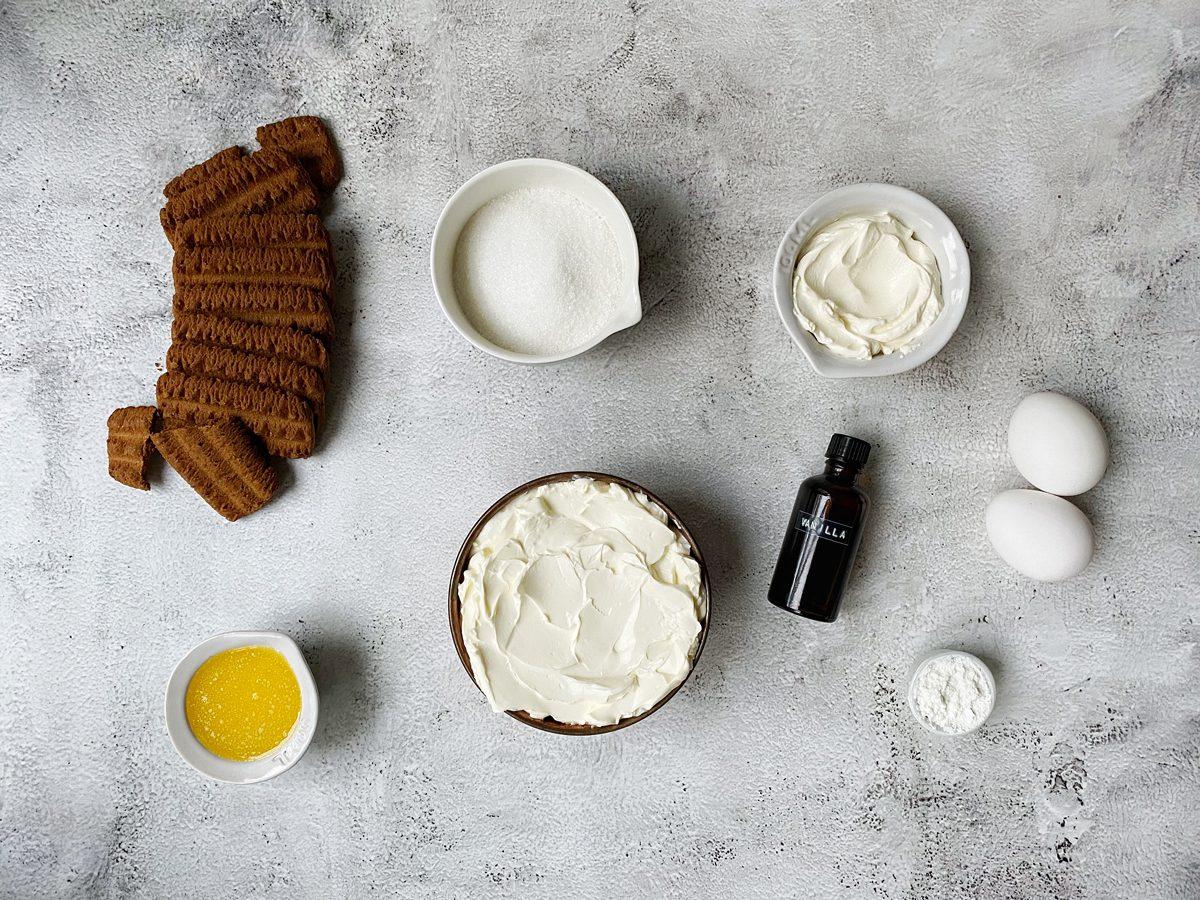 Ingrediënten voor cheesecake