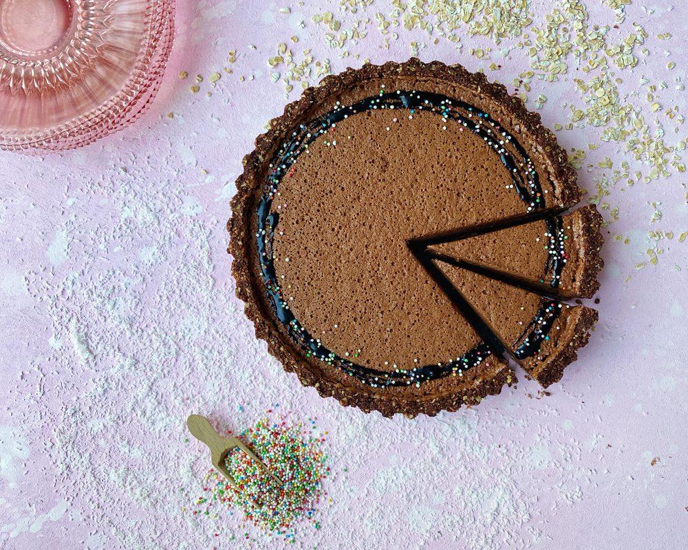 Vegan chocolademousse taartje