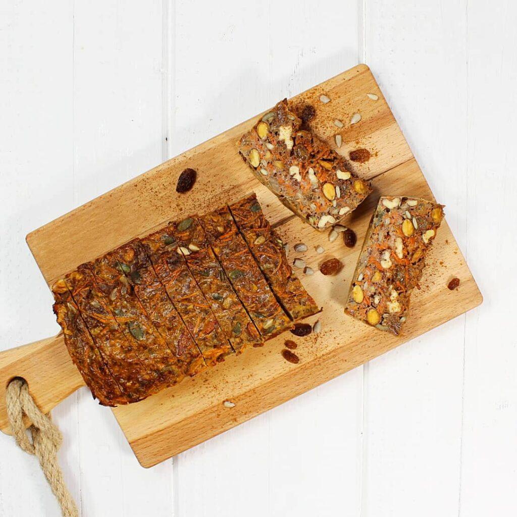 Wortel-noten broodje