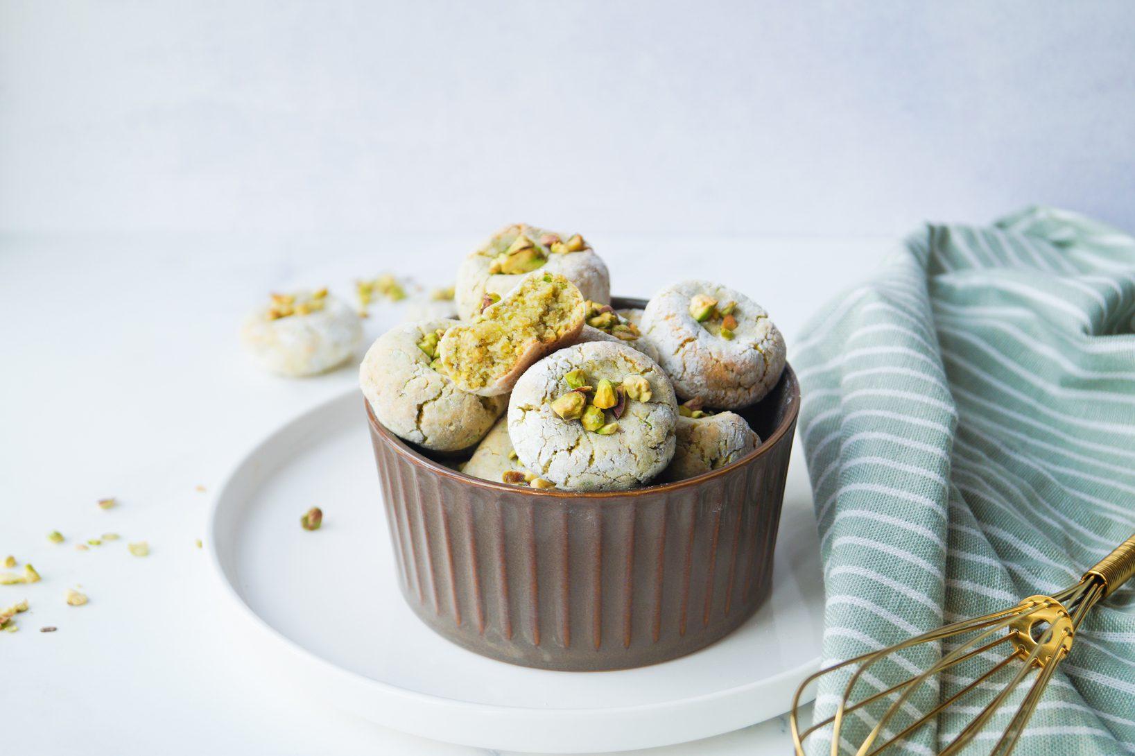 Pistache-Amandel koekjes