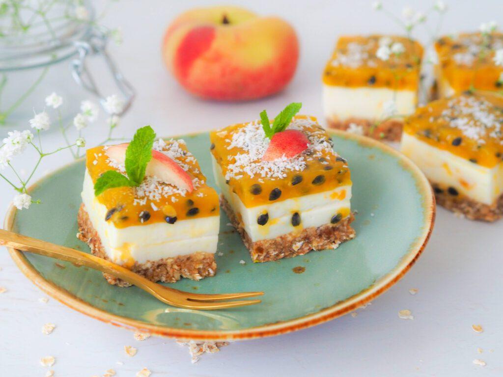 Perzik en passievrucht taartjes