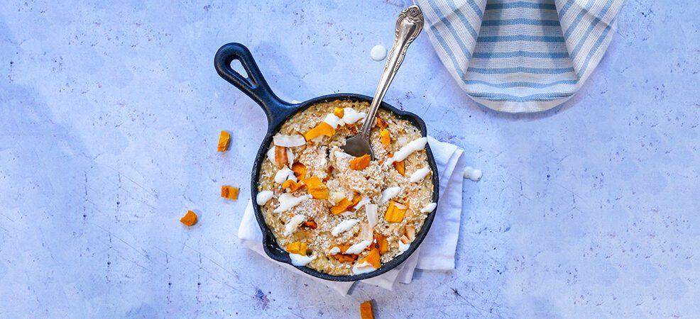 Baked oats met gedroogde mango