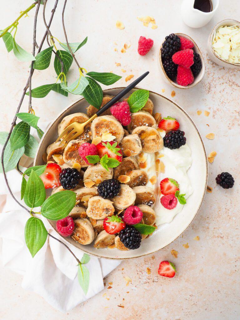 Mini bananen pannenkoeken